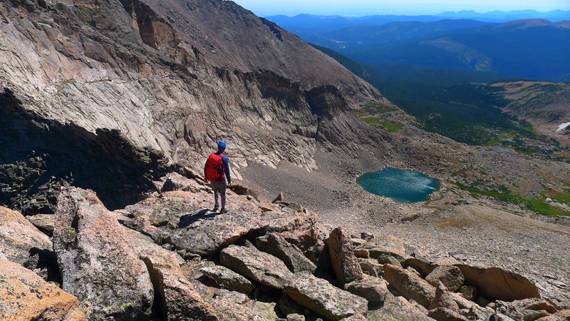 Rock Climbing Photo: Looking down at Keplinger Lake.