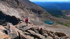 Rock Climbing Photo: Looking down at Keplinger Lake.