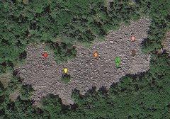Rock Climbing Photo: Red: Midwest Connection Yellow: Sad Dad Bar Orange...