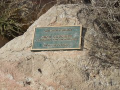 Rock Climbing Photo: Memorial near the summit of Bishop Peak.