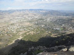 Rock Climbing Photo: SLO area from the summit of Bishop Peak.
