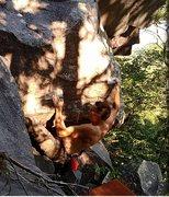 Rock Climbing Photo: Coming around the corner...