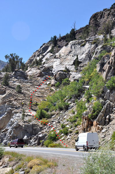 Rock Climbing Photo: Approach to Girls On Fire 200 ft west of the Green...