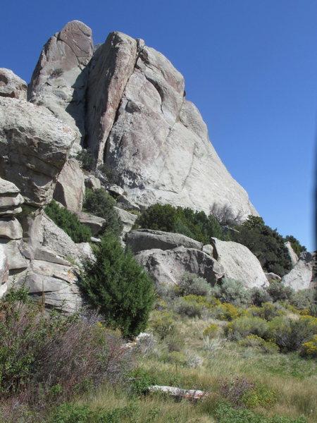 Castle Rock, as seen from the Southwest.