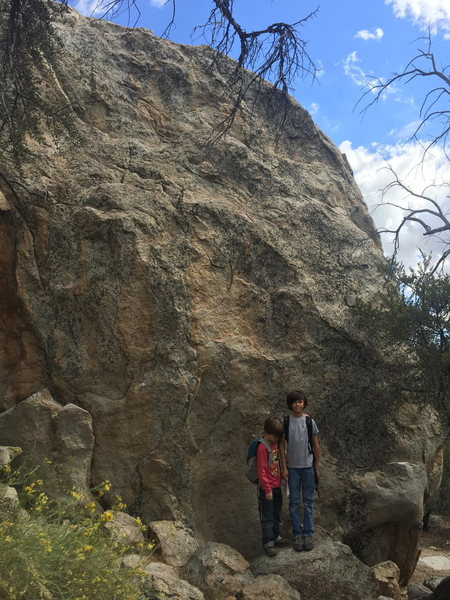 Rock Climbing Photo: This boulder is a few minutes up and east of The G...