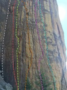 Rock Climbing Photo: Alcohol Wall- Left to Right  White - Gods Own Drun...
