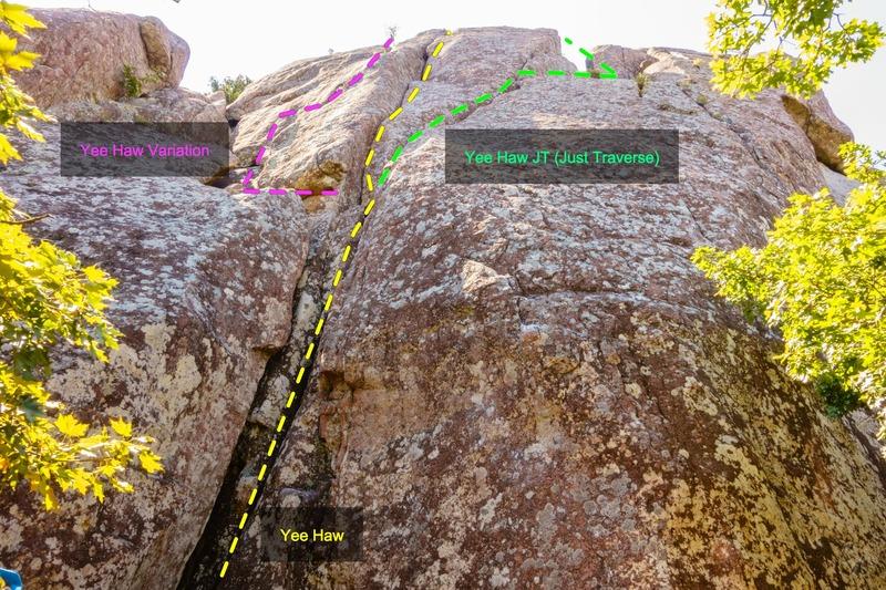 Rock Climbing Photo: Yee Haw & Its Variants