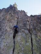 Rock Climbing Photo: Johnny warming up.