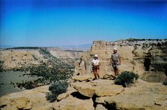 Rock Climbing Photo: Looking West from summit cairn along Train Robbers...