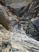Rock Climbing Photo: Ryan low on the Northeast Gully of Laurel