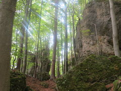Rock Climbing Photo: The Hintere Wand (right) and back side of the Klei...