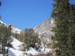 Rock Climbing Photo: The Diamond as seen from Fifth Lake.