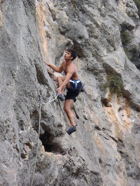 Sport climbing in Spain.
