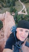 Rock Climbing Photo: A little free solo up Zuma tower today.