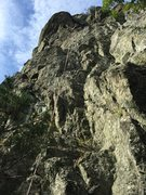 Rock Climbing Photo: Looking up at Lord of the Dance from the belay led...