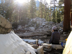 Rock Climbing Photo: Spring camp below Sam Mack Meadow.
