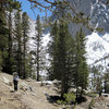 High along the North Fork Trail - with the walls of Temple Crag behind.