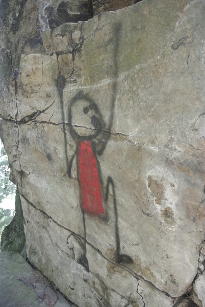 Rock art(?) on Coyote Tower.  At least it fits the motif...