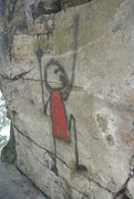 Rock Climbing Photo: Rock art(?) on Coyote Tower.  At least it fits the...