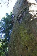 Rock Climbing Photo: James warming up on a beautiful September Sunday.