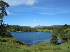 Rock Climbing Photo: Loughrigg Tarn and the Langdale Pikes