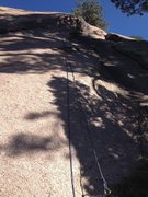 Rock Climbing Photo: The route with a rope hanging on it.