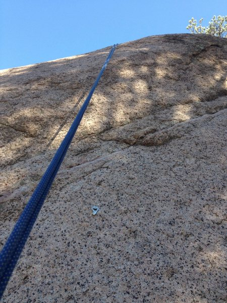 Rock Climbing Photo: The directional bolt and what it looks like if you...