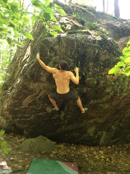 Rock Climbing Photo: Sticking the crux.
