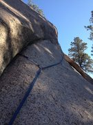 Rock Climbing Photo: Midway up Crimes Against Rock