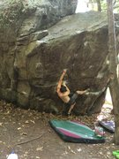 Rock Climbing Photo: The first move