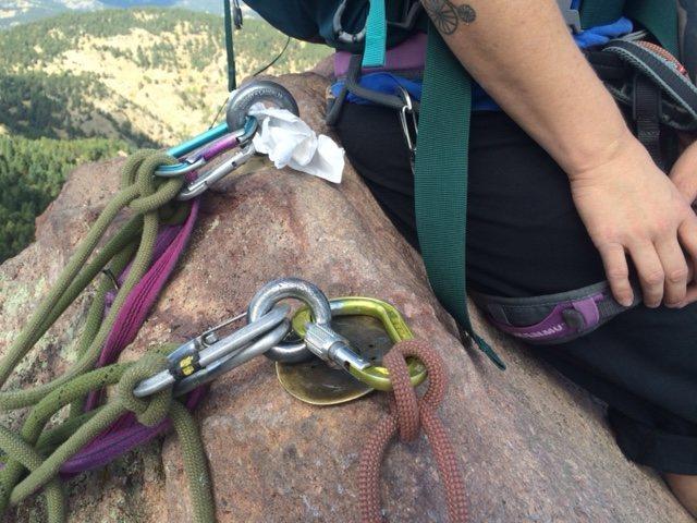 Rock Climbing Photo: Rigging.