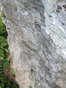 Rock Climbing Photo: Leading Easy Hard. View from the top of Blue Chock...