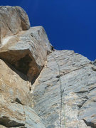 Rock Climbing Photo: Rope Hanging on Slut Buckets- Viewed from belay le...