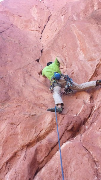 Rock Climbing Photo: Clayton MacBride climbing Snuggles.  Photo: Blake ...