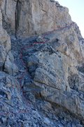 Rock Climbing Photo: The Wall Street pitch, the first semi technical pi...