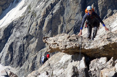 Rock Climbing Photo: Climbing the Upper Exum Ridge.... Oh good, she's s...