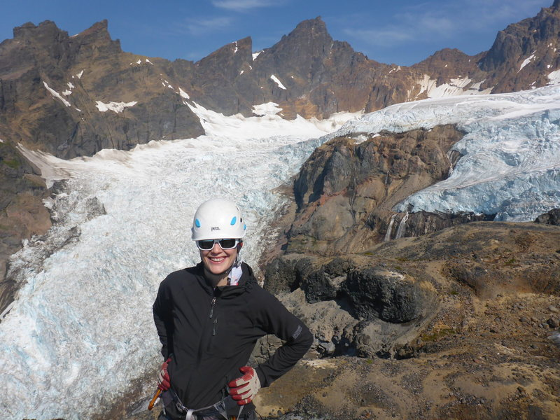 Out on Mt Baker looking at the Demming Glacier