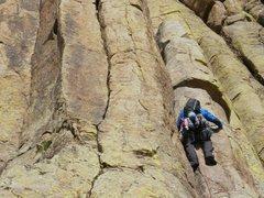 Rock Climbing Photo: Column pitch Durrance
