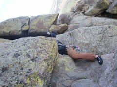 Rock Climbing Photo: Jump Traverse Durrance