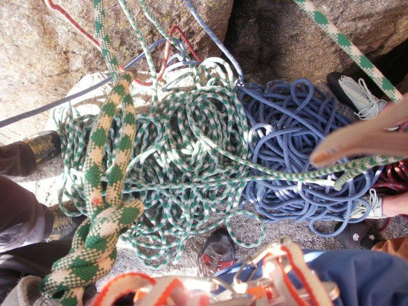 Rock Climbing Photo: Managing Ropes