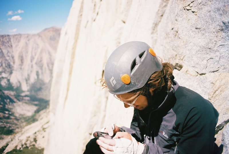 Rock Climbing Photo: Reading the topo