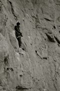 Rock Climbing Photo: Bailey Crawford's onsight attempt in below freezin...