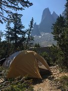 Rock Climbing Photo: One of the best campsites ever.