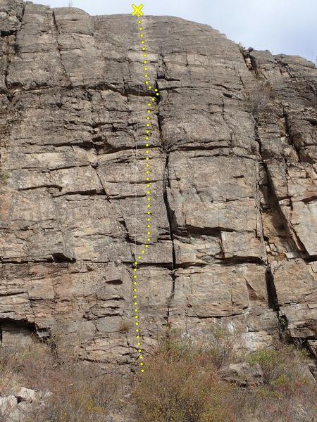 Rock Climbing Photo: Inca Roads topo.