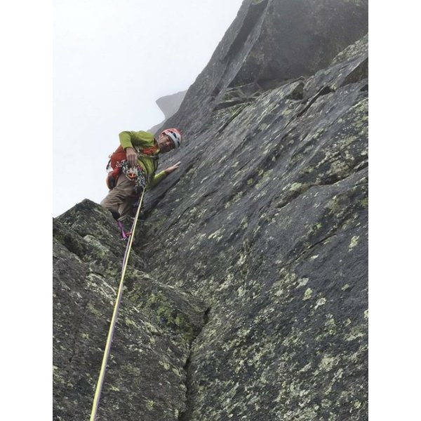 starting the crux pitch four.