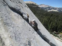 Rock Climbing Photo: Julia Lin leading Family Flake.