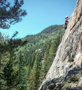 Rock Climbing Photo: First lead climb at Powerline in Indy Pass (Tavern...