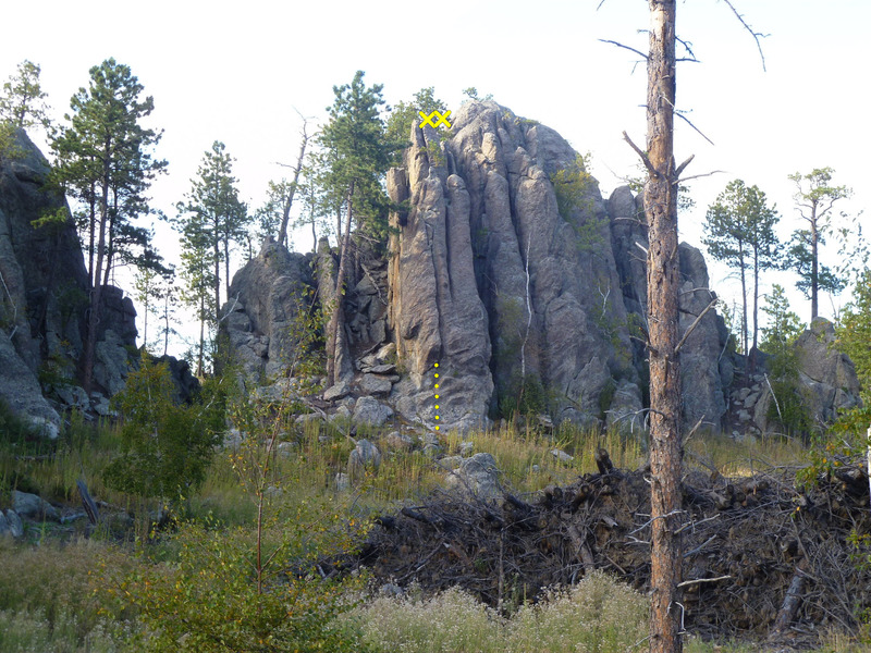 Rock Climbing Photo: Clearcut Tower from the old FS road