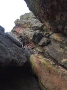 Rock Climbing Photo: Looking up at the Dog's Head Cutoff from the downc...