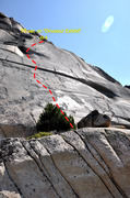 Rock Climbing Photo: Alternate 5.11b friction TR variation to the left ...